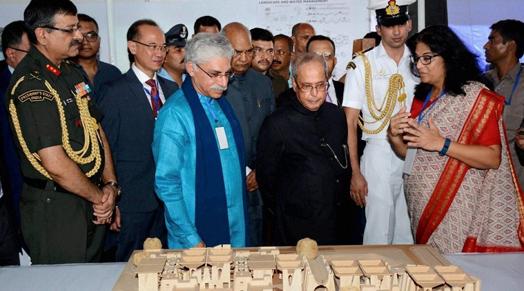 University Foundation Stone Laying Ceremony by the President of India