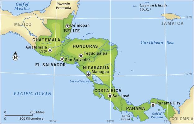 Guatemala El Salvador And Honduras Propose Joint Energy: North America Map Guatemala At Codeve.org