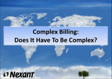 Complex Billing: Does It Have To Be Complex?