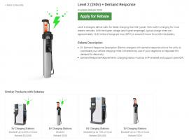 iEnergy User Experience Electric Vehicle Rebate
